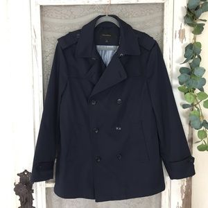 Banana Republic Navy Double Breasted Peacoat L